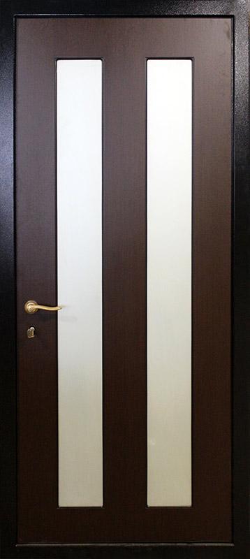 металлическую дверь из шпона венге