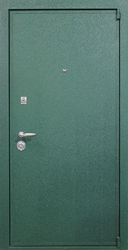 зеленые стальные входные двери