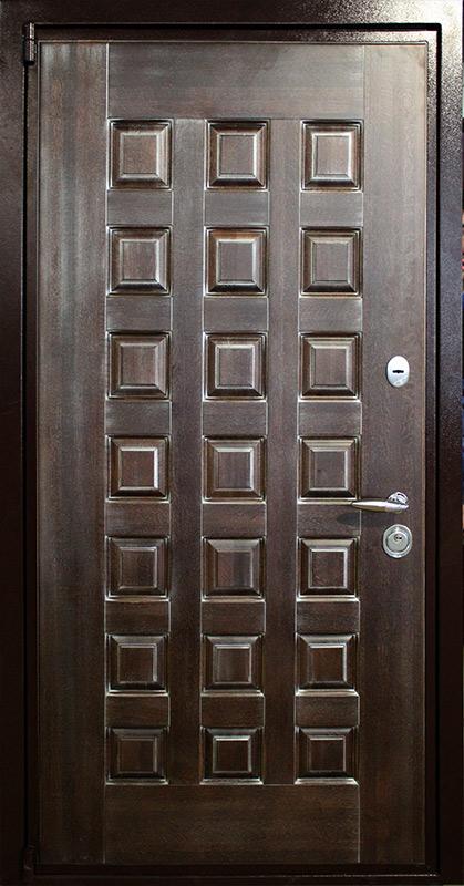 стальная дверь массив патина