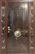 Дверь металлическая <strong>К-10</strong><br>Панель: <strong>Патина темная</strong>